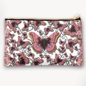Pink Butterfly 9x6 Cosmetic & Toiletry Travel Bag